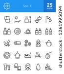 spa line icons | Shutterstock .eps vector #1261995094