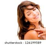 woman with beautiful skin... | Shutterstock . vector #126199589