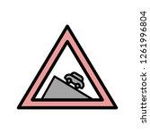 vector dangerous descent icon... | Shutterstock .eps vector #1261996804