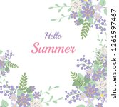 summer flower composition with... | Shutterstock . vector #1261997467