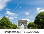arc de triomphe in paris | Shutterstock . vector #126200039