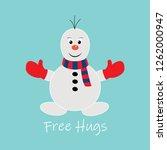 Cute Snowman Vector...