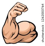 a strong arm showing its biceps ... | Shutterstock .eps vector #1262003764