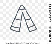 native american wigwam icon.... | Shutterstock .eps vector #1262005651
