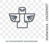 native american totem icon.... | Shutterstock .eps vector #1262005657