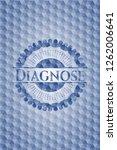 diagnose blue emblem or badge... | Shutterstock .eps vector #1262006641