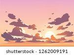 vector evening sky clouds.... | Shutterstock .eps vector #1262009191
