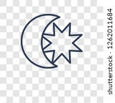 star and crescent moon icon.... | Shutterstock .eps vector #1262011684