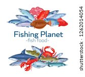 fish banners. seafood vector... | Shutterstock .eps vector #1262014054