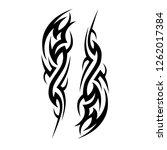 art tribal tattoo pattern... | Shutterstock .eps vector #1262017384