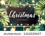 tropical christmas on the beach ... | Shutterstock .eps vector #1262020657