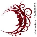 blood moon tribal tattoo... | Shutterstock . vector #1262023297