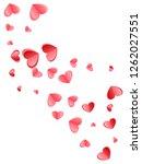 heart scatter falling on white... | Shutterstock .eps vector #1262027551