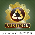 golden emblem or badge with... | Shutterstock .eps vector #1262028994