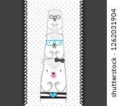 teddy bears collection vector...   Shutterstock .eps vector #1262031904