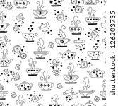 seamless pattern drinking of... | Shutterstock .eps vector #126203735