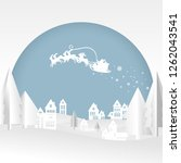 merry christmas and happy new... | Shutterstock .eps vector #1262043541