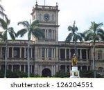 King Kamehameha Statue in front of Aliiolani Hale in Oahu, Hawaii