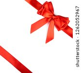 red ribbon bow isolated on... | Shutterstock . vector #1262052967
