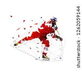 ice hockey player in red jersey ...   Shutterstock .eps vector #1262059144