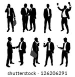 business people silhouettes | Shutterstock .eps vector #126206291