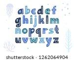 vector lowercase alphabet... | Shutterstock .eps vector #1262064904