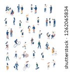 vector isomeric people set... | Shutterstock .eps vector #1262065834