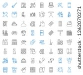 household icons set. collection ... | Shutterstock .eps vector #1262070271