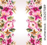 tropical summer flower mirror... | Shutterstock .eps vector #126207089