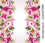 Tropical Summer Flower Mirror...
