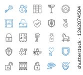 privacy icons set. collection... | Shutterstock .eps vector #1262074504