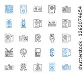 id icons set. collection of id...   Shutterstock .eps vector #1262074654