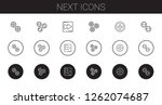 next icons set. collection of... | Shutterstock .eps vector #1262074687