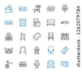 seat icons set. collection of... | Shutterstock .eps vector #1262079784