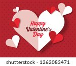 happy valentines day greeting... | Shutterstock .eps vector #1262083471