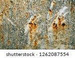 metal wall with rust | Shutterstock . vector #1262087554