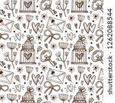 vector seamless pattern for... | Shutterstock .eps vector #1262088544