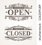 open and closed   ornate retro... | Shutterstock .eps vector #126209189