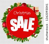 christmas sale banner... | Shutterstock . vector #1262093041