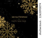 xmas postcard with snowflake  | Shutterstock . vector #1262093074