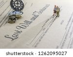 last will and testament  ... | Shutterstock . vector #1262095027
