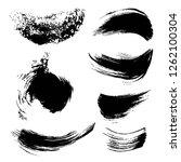 abstract black ink strokes set... | Shutterstock .eps vector #1262100304