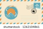 postal envelope with postage... | Shutterstock .eps vector #1262104861