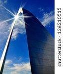 St. Louis Arch In Missouri Wit...