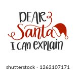 Dear Santa I Can Explain...