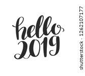 vector hand written hello 2019... | Shutterstock .eps vector #1262107177