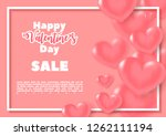 3d colorful hearts with a white ... | Shutterstock .eps vector #1262111194