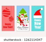 merry christmas and happy new... | Shutterstock .eps vector #1262114347