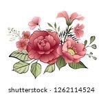 flower design elements. elegant ... | Shutterstock .eps vector #1262114524