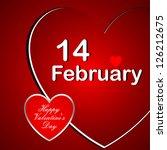 valentine's day | Shutterstock .eps vector #126212675